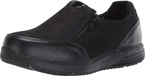 Rockport Work Women's Trustride Work Safety Toe Slip-on Oxford Industrial Shoe, Black, 9.5