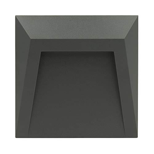 LEDKIA LIGHTING LED Wegeleuchte Wand Clover IP65 1,5W Grau Neutrales Weiß 4000K