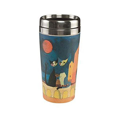Goebel I Colori Del tramanto Coffee to Go Becher, Kaffeebecher, Trinkbecher, Rosina Wachtmeister, Metall-Kombi, Ø 8.5 cm, 66860291
