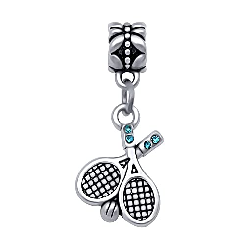 Auténtico Pandora 925 Colgante De Plata Esterlina Diy King'S Faith Moda Deporte Raqueta De Tenis Charm Fit Charm Bead Pulseras Fabricación De Joyas,