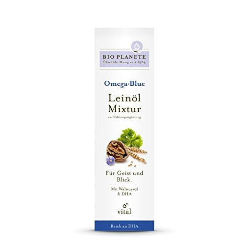 Bio Planète Omega Blue Leinöl-Mixtur zur Nahrungsergänzung, 2er Pack (2 x 100 ml)