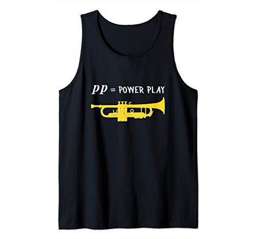 pp = power play!, Trompete Geschenk, Lustiges Trompete Tank Top