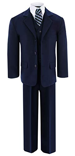 Navy Blue Formal Suit Set from Baby to Teens GG230 (18, Navy Blue)