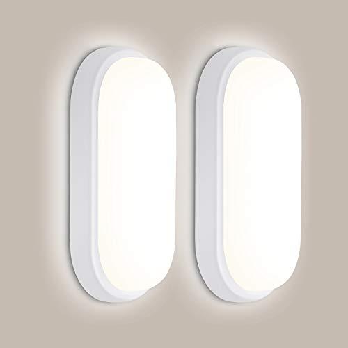 2er LED Deckenlampe 18W 1440LM, OEEGOO IP54 Wasserfest LED Badlampe, 4000K LED Deckenleuchte Flimmerfreie Feuchtraumleuchte Für Badezimmer Schlafzimmer Kinderzimmer Flur Keller Balkon
