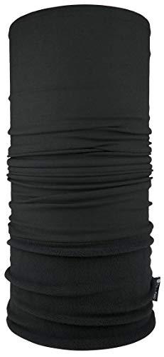 Hilltop Polar Multifunktionstuch mit Fleece, Kopftuch, Halstuch viele Farben, Farbe Polar Tuch:Schwarz uni