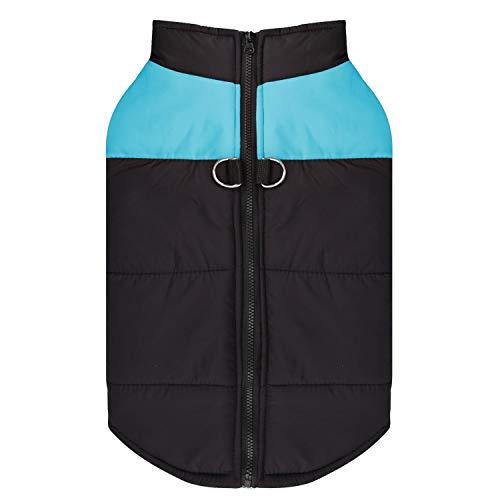 Shinmax Dog Coat Warme Jacke, Winddichte Schneeanzugweste für Kleine und Mittlere Hunde Weiches Baumwollfutter, Haustierweste mit D-Ring-Geschirr
