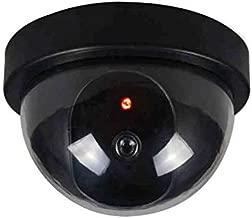 GuoYq Virtual Camera, Fake Surveillance Security Dummy Family Fake Camera imitating Virtual CCTV Dome Camera with LED Flashing