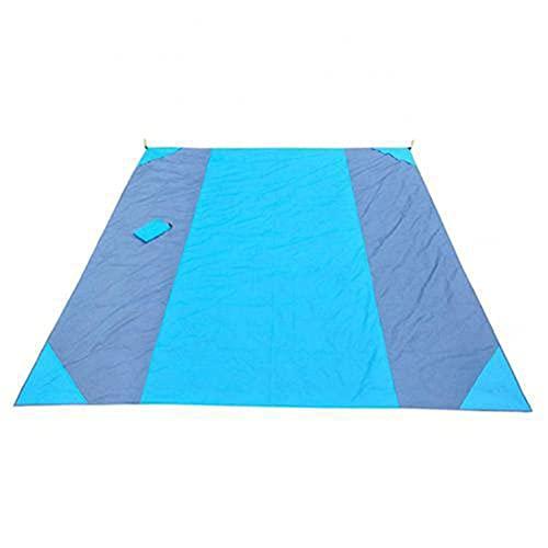 AADEE Tapete de picnic, plegable, portátil, impermeable, a prueba de arena, manta de bolsillo de playa, ligero y transpirable, nailon Ripstop, para césped mojado, senderismo, playa y camping