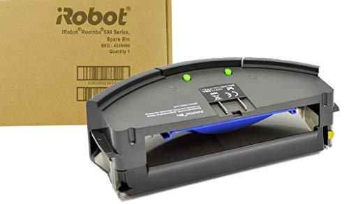 iRobot 4536490 Roomba 690 Serie Original AeroVac Bin - Cubo de basura con filtro, color gris