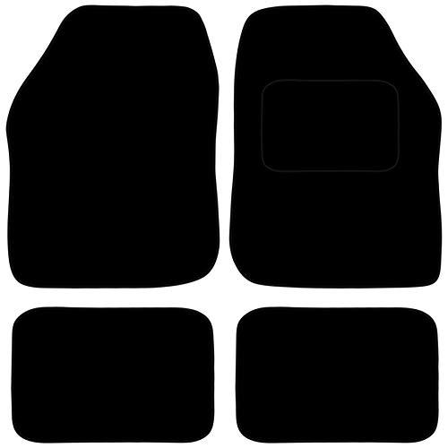Carsio Universal Auto- oder Van-Fußmatten-Set, rutschfest, mit schwarzer Einfassung, 4-teilig