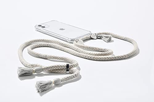 ETUUI Amalfi Grey – Cadena para teléfono móvil iPhone 11 Pro, funda para teléfono móvil, correa para el cuello, funda para smartphone con banda (gris)