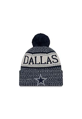 New Era New Era ONF18 Sport Knit Bommelmütze Dallas Cowboys Blau, Size:ONE Size