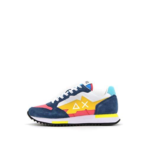 Sun 68 Sneakers Uomo Modello Niki Crazy Colore Bianco/Geranio (Numeric_40)