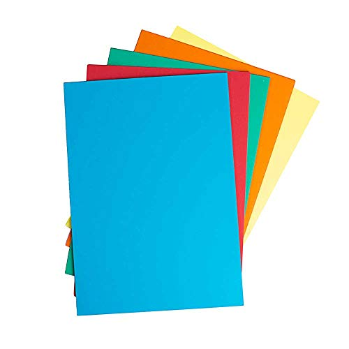 House of Card & Paper A4 220 gsm Card - Assorted Bright (Pack of 100 Sheets)