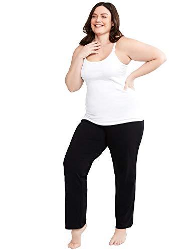 Motherhood Maternity Women's Maternity Full Length Sleep Knit Pants, Black, Extra Large