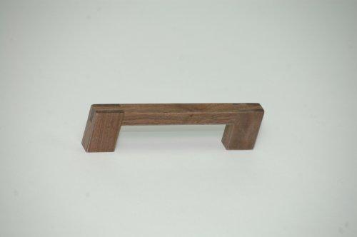 6 Griffe Möbelgriffe Schrankgriffe Holz Walnuss Bohrlochabstand 128 mm