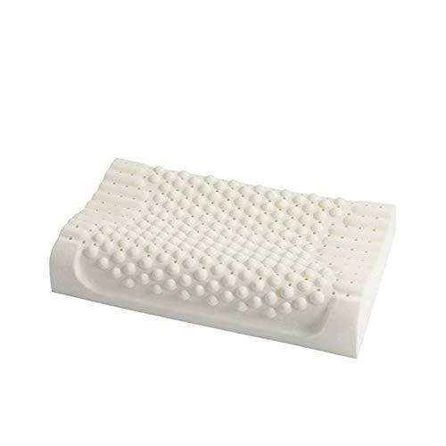 XXxx SUNLMG natuurlijk latex kussen voor nekpijn/reliëf neksteun/orthopedisch/anti-mijt/ademend/antibacterieel Health massage granule latex kussen