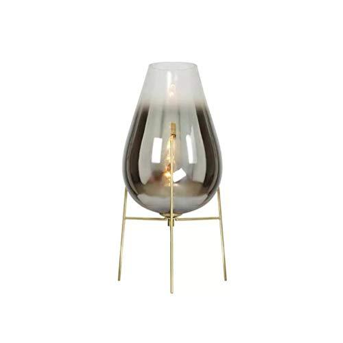 Pointhx Lámpara de escritorio Postmoderno Note de vidrio Lámpara de la lámpara de hierro Lámpara de la mesa de la mesa de la mesa de la mesa de la mesa de la mesa de la mesa de la luz de la lámpara de