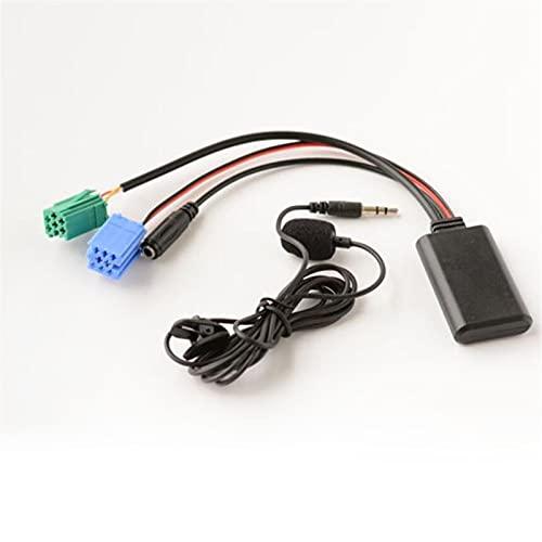WUYANZI WYZ Coche Bluetooth 5.0 Cable Auxiliar Micrófono Micrófono Manos Libres Teléfono Móvil Gratuito Adaptador de Llamadas para Renault Megane 2 Radio de actualización