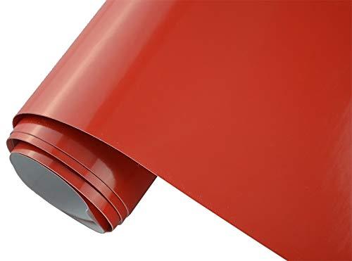 Neoxxim 4,60€/m2 Premium Auto Folie - GLÄNZEND ROT Glanz ROT 100 x 150 cm - blasenfrei mit Luftkanälen ca. 0,15mm dick Folierung folieren bekleben