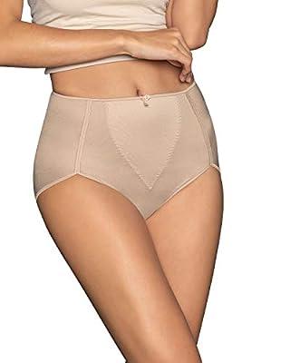 Leonisa Womens High Waist Firm Tummy Control Compression Panty,Beige,Medium