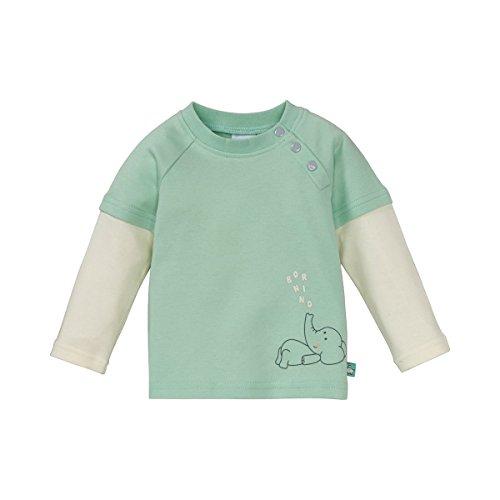 Bornino T-shirt à manches longues 2en1 « éléphant » top bébé vêtements bébé, offwhite/green