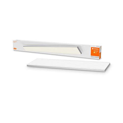 LEDVANCE LED Wand-und Deckenleuchte, Rahmenlose Panel Leuchte für Innen, Warmweiß (3000K), 35W, 1200mm x 100mm, PLANON FRAMELESS