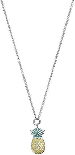 FACAIBA Collar Collar novedoso Creativo Collar de piña de Moda Collar de Acero de Titanio Adecuado para Usar con Cualquier Ropa para Mujeres Hombres Regalos
