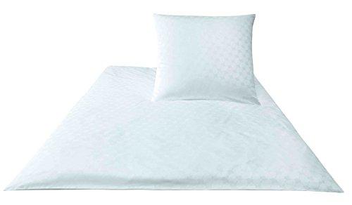 Joop. Bettwäsche-Set aus Baumwoll-Satin, Cornflower 4020 80/80 135/200 bianco