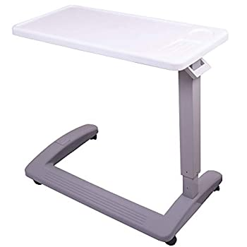 Carex Overbed Table and Hospital Bed Table - Table With Wheels - Over The Bed Table For Home Use and Hospital