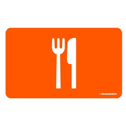 Rammstein FrühstücksbrettMeinTeil orange, Offizielles Band Merchandise