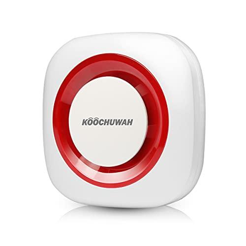 Alarmanlage Einbruchschutzanlage mit Batterien Alarm System zubehörteile, Empfänger paaren, SOS Sender, Keypad, Wasserimmersionsdetektor, Tür-/Fensterkontakt (9,5x9,5cm)