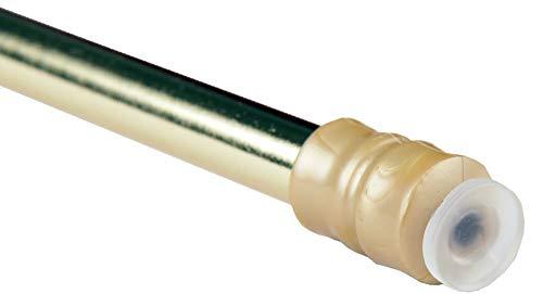 Bestlivings - Barra de sujeción para cortinas con técnica de atornillado, acero inoxidable, dorado, 40-60cm (1er Pack)