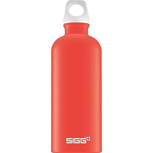 Gourde SIGG Lucid Scarlet Touch (0.6 L), gourde étanche et sans produits toxiques, ni BPA, bouteille aluminium robuste et très légère, facile à transporter