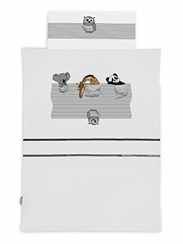 KempKids Sango Trade Bettdecke und Kissenbezug Set, Größe: 90 x 120 cm, Baby Bettwäsche - Schlafende Tiere