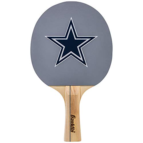 Franklin Sports Dallas Cowboys Table Tennis Paddle - NFL Team Table Tennis Paddles - Official Team Logos and Colors - Fun NFL Game Room Accessories