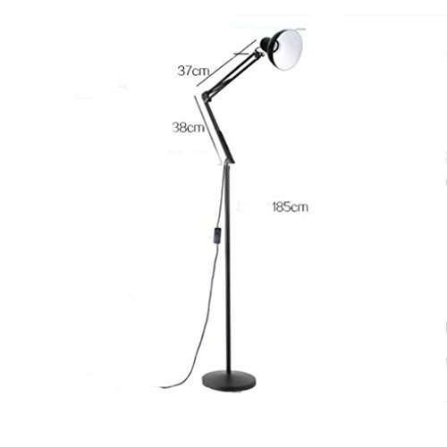 YP Home Floor Lamp, Floor-Standing Reading Led, Creative American Style Long Arm Fold Floor Lamp Study Modern Landing Table Lamp Eye Protection Jobs Floor Lamp Eye Protection Vertical Table Lamp