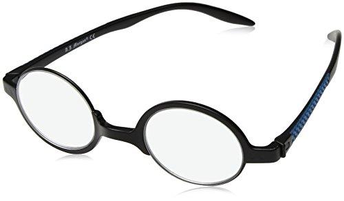 A.J. Morgan Orb-Power 2.00 Round Reading Glasses, Matte Black, 2