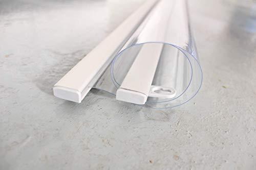 100 x maximal180 cm PET - Deckenhänger Spuckschutz Folie mit Alu-Klemmschiene | Schutz Wand hängend | Spritzschutz | Abtrennwand | Niesschutz| Virenschutz -Spuckschutz Deckenhänger