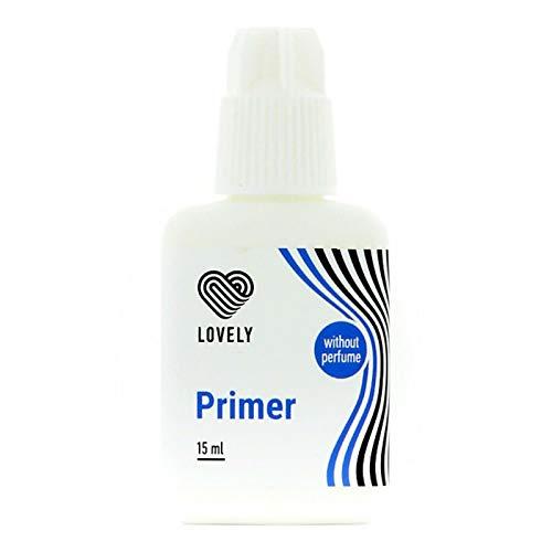LOVELY PRIMER (15 ml) Ohne Duftstoffe, HAFTVERSTÄRKER, Vorbereitung für Künstliche Wimpern, ENTFERNT PROTEINE + ÖLE
