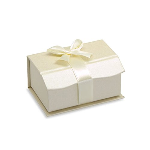 Trauring Eheringe Etui BOX für 2 Ringe Verpackung Juwelier Rubin Creme Ring Case Trauring-etui Trauringbox Wedding Band Ring Cases two Rings Ring Schachtel