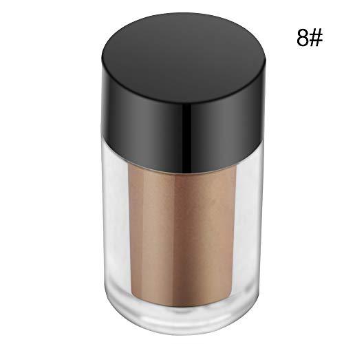 Glitter Lidschatten Augen Pigment lose Puder Lidschatten Make-up Kosmetik 7 Farben(08# Gold),...