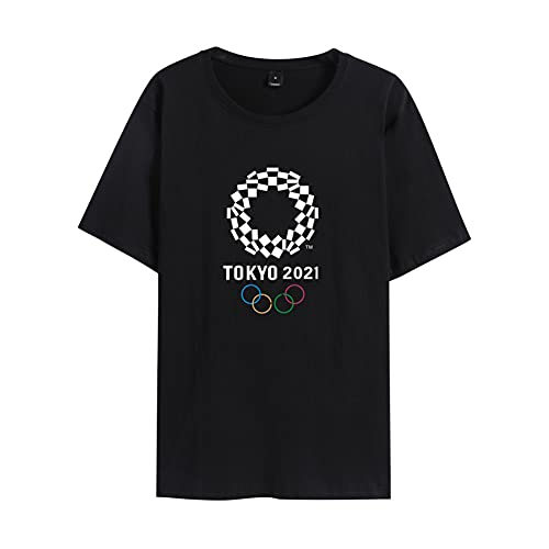 ANGEL CITIZ tシャツ メンズ 半袖 2020 東京オリンピック tシャツ 夏服 男女兼用 クルーネック おしゃれ カジュアル 吸汗 大きいサイズ 綿100%