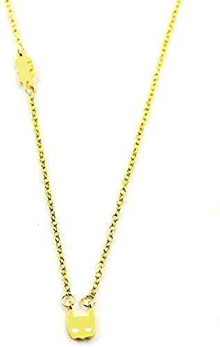 ZHIFUBA Co.,Ltd Collar Collar Collar Simple Lindo Clásico Color Dorado Forma de Gato Collares Pendientes para Mujeres Accesorios de joyería de Moda-Oro para Mujeres Hombres Niños Niñas Regalo