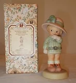 """Memories of Yesterday """"Blowing A Kiss To A Dear I Miss"""" Figurine 1994 Symbol of Membership Charter Member #S0104"""