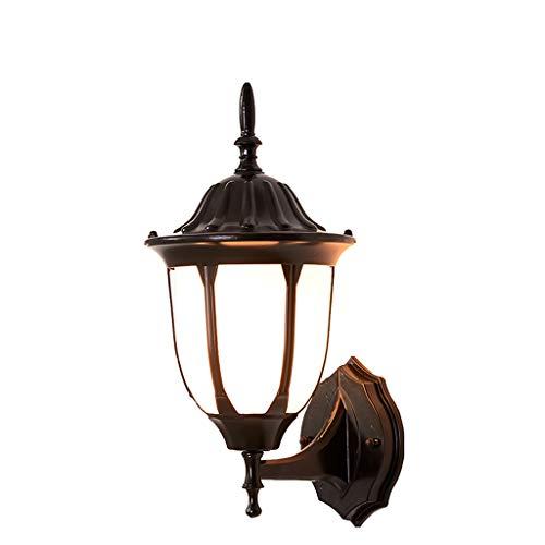 LRW - Soporte de luz para exteriores para pasillo, pasillo, pasillo, impermeable, luz rural, jardín, casa
