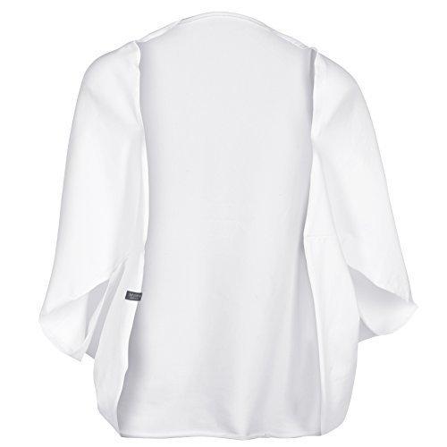 hut und berg balance Yoga Veste pour Femmes, Samadhi Veste Blanche de Blanc, uni Size