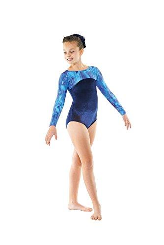DANCEWEAR WORLD DIRECT Tappers & Punteros GIMNASIO/23maillot de gimnasia manga larga, mujer, azul