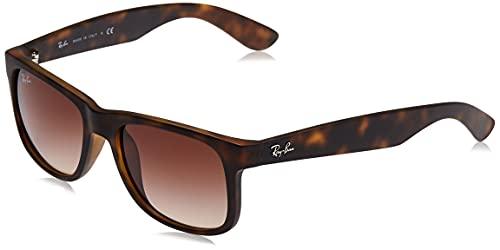 Ray-Ban Justin RB4165 - Gafas de sol Unisex, Marrón (Brown 710/13), 55 mm