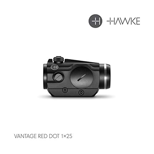 Hawke 1X25, 3 MOA-11 Stage Brightness Vantage Zielfernrohr, schwarz, M
